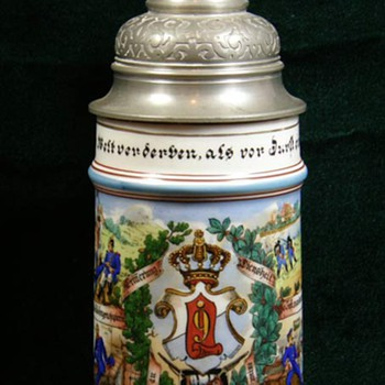 Imperial German Reservist's stein of Konrad Heinrich, 9th Bavarian Infantry