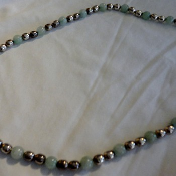 silver jade taxco necklace - Fine Jewelry