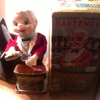 1960's Battery Operated Bartender - Toys