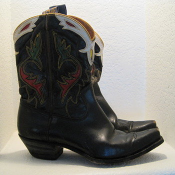  My Vintage 40&#039;s ACME Pee Wee Leather Enlayed Cowboy Boots