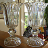 VICTORIAN CRYSTAL CELERY VASES