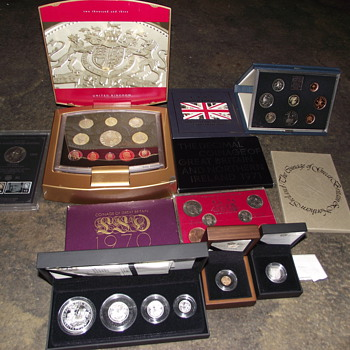 1965-2009-uk coin sets-gold-silver-proof-sovereign-collection. - World Coins