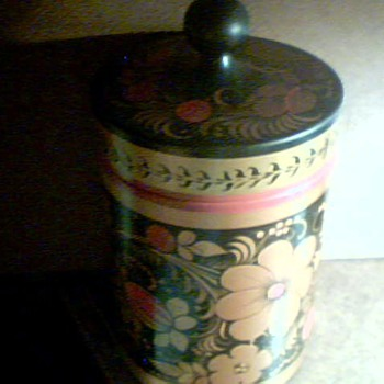 Lacquer Ware Tobacco Canister