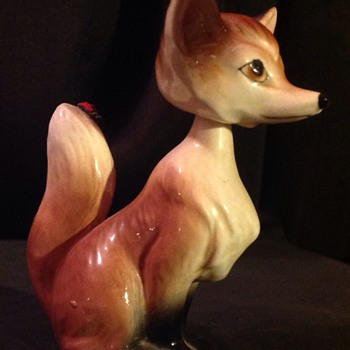 Head spinning/nodding china fox - Figurines