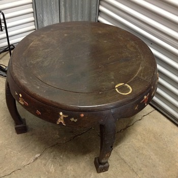 Chinese inlaid tea table - 1940's or earlier