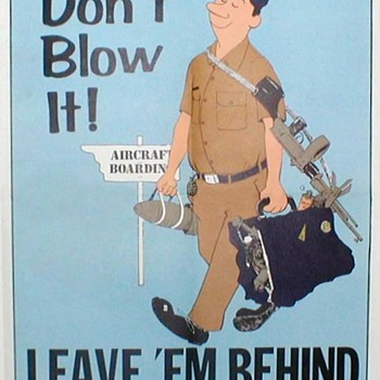 1971 - US Air Force Safety Poster - Explosives - Posters and Prints