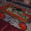 Wood Coaster Wagon Coffee Table