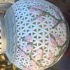 Rare Vintage Asian Blanc de Chine White Lattice Pink Peony Floral Porcelain Lamp