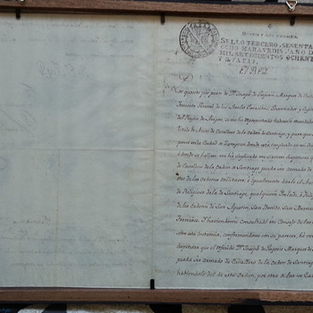 1784 Royal Spanish Document signed by King Carlos 3rd