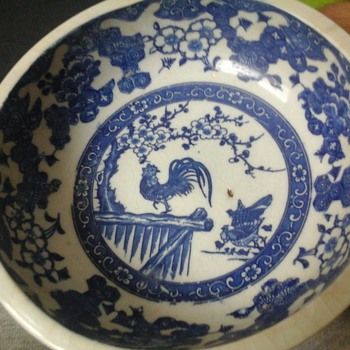 chinese pattern large bowl - Asian