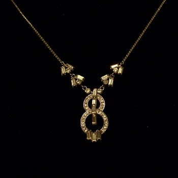 Unmarked Deco? Rhinestone Necklace - Fine Jewelry