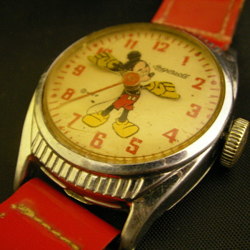 Unusual 1947 US Time Mickey Mouse Watch - Wristwatches