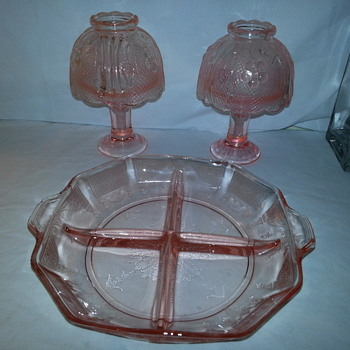 Pretty Pink Depression Glass Candle Lamps