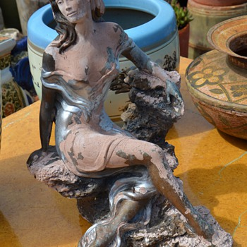Alice Heath - Retro-Nouveau Statue of an Alluring Woman