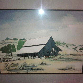 panting of farm scene 