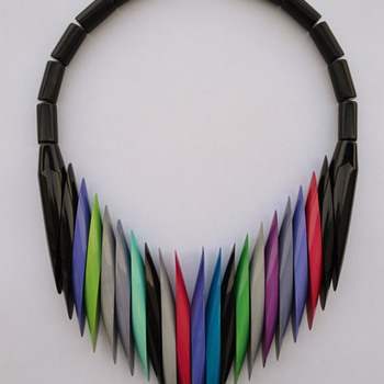 Isadora Paris Galalith Necklace - 1970's /1980's