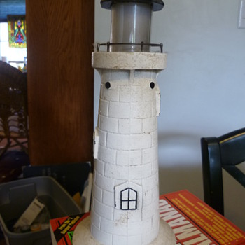 What is the age of this B.L. Barrett Novelties Iron Lighthouse Lamp?