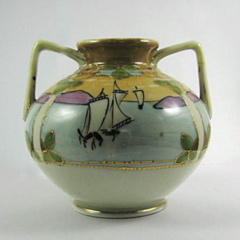 Sail Boat Vase - Asian