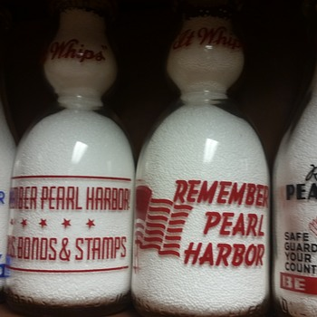 Pearl Harbor Milk Bottles......