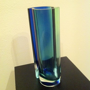 Bohemia Glass: Faceted Crystal Art Vase - Art Glass
