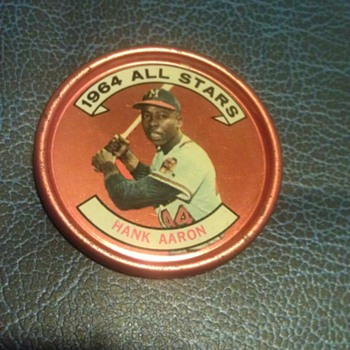 Vintage 1964 Topps Baseball Coin of Hank Aaron - Baseball