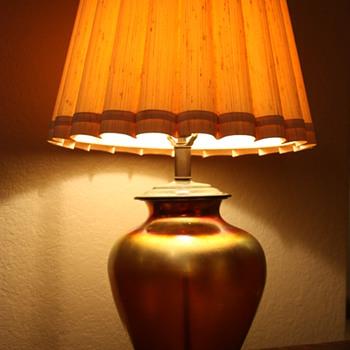 Steuben Aurene Lamp