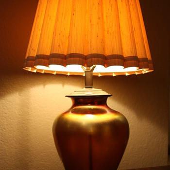 Steuben Aurene Lamp - Art Glass