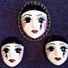 Hand Painted Mask Demi, Very Unusual