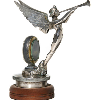 Aida Figure, Le Genie Special,  By Fadi Cajani, French Car Mascot, Paris Circa 1925,  - Art Deco