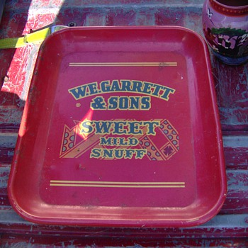 Rare WE Garrett Snuff Advertising Tray