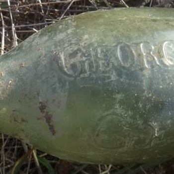 Antique Torpedo Bottle Malta - Bottles