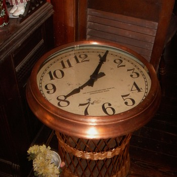 Vintage Copper School Clock
