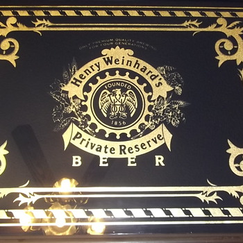 "Henry Weinhard's Private Reserve Beer Sign  27""x22"" (see back) - Breweriana"