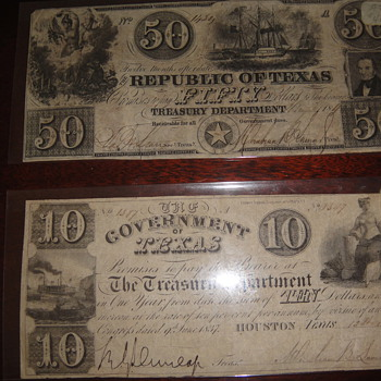 texas money - US Paper Money