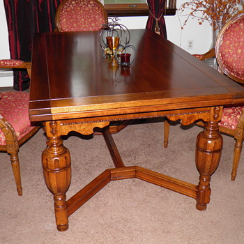 Restored slide leaf table - Furniture