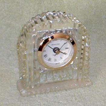 Michael C. Fina Lead Crystal Clock