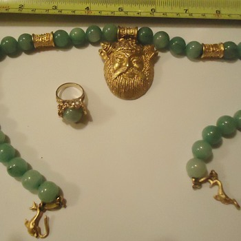 Repost (as asked!) Jade ring and necklace