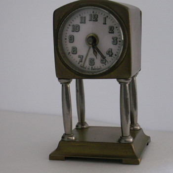 Small German 4-column Alarm Clock - Clocks
