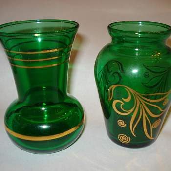 GREEN GLASS  - Glassware