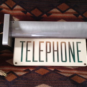 Vintage telephone sconce