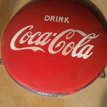 Coca Cola sign enamel  Ø  40 cm (15,74 inch), found it in Holland late 70`s - Signs