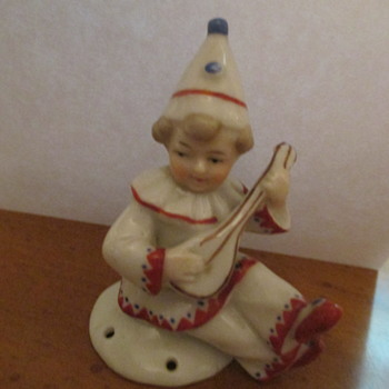 German Porcelain Clown - Figurines