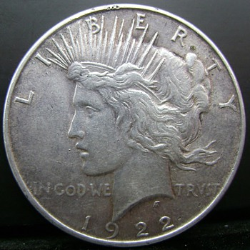1922 Peace Dollar. Here´s another really strange  of my own, the King of VAMs for sure....