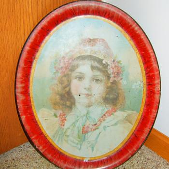 1890's Victorian Art Tray