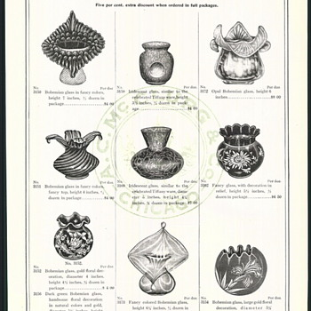 Old USA Catalogue Pages Bohemian Glass Pieces - Advertising