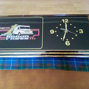 Snap-On Tools Clock - Advertising