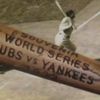 1932 World Series Souvenir Bat Cubs vs Yankees - Baseball