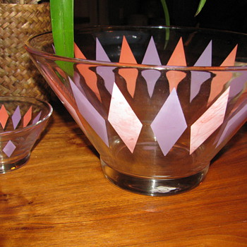 Mid Century Moden Chips and Dip Set - Mid Century Modern