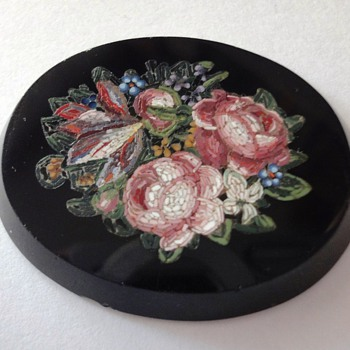 Large Mircro Mosaic fFlower Bouquet Plaque - Fine Jewelry