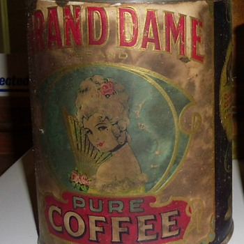 Grand Dame Litho Coffee tin - Advertising